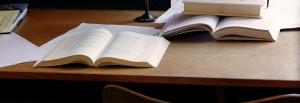 law books open
