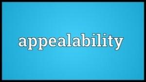 appealability