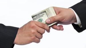 taking bribes